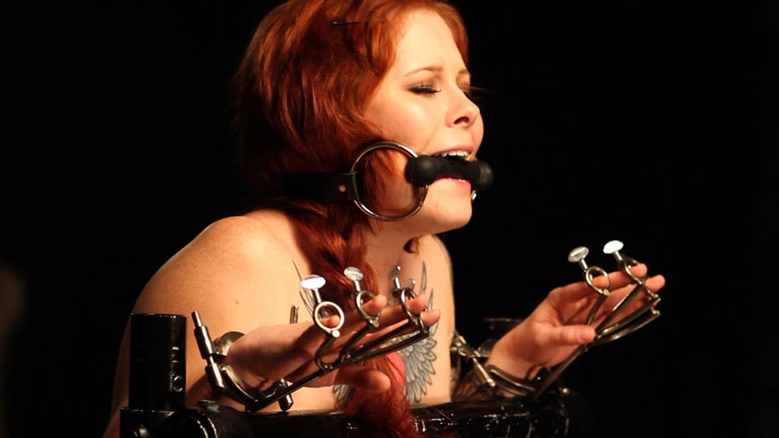 Misti dawn s lesbian device bondage training. Misti Dawn is a cut little geek girl who loves to explore her wild fetish side. She is making a return to MISSogynys playroom for discipline and lezdom slave training. The video gives you a voluminous look at her natural breasts and fiery red hair along with her bubble butthole and array of lascivious tattoos.