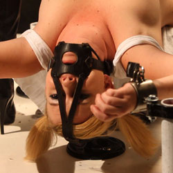 Lezdom nipple tormented for sasha knox. Sasha Knox is addicted to dominatrix MISSogynys deft hand and skill at titillating Lezdom device torture. After getting her anus and pussy totally dominated her first time in dominatrix,s dungeon, Sashas slave training today is going to focus on nipple torture.